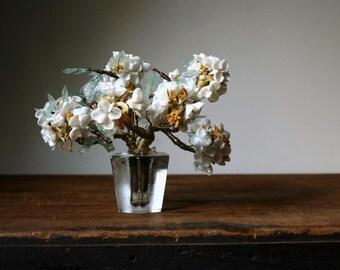 Glass flowers, glass bouquet, glass floral bouquet, handmade glass flowers