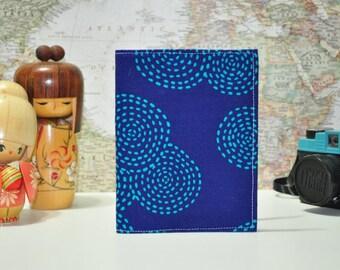 Fabric Passport Cover - Midori Passport Notebook Case - Sashiko Print Passport Case - Travel Document Sleeve