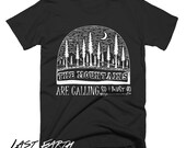 The Mountains Are Calling So I Must Go T-Shirt Mountain Hiking Shirt Camping Tshirt Rock Climbing Gifts For Him Mens Tshirts Womens Shirt
