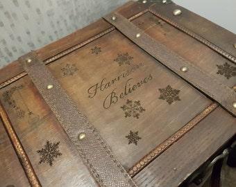 Personalised Laser Cut Vintage Style Christmas Eve Box