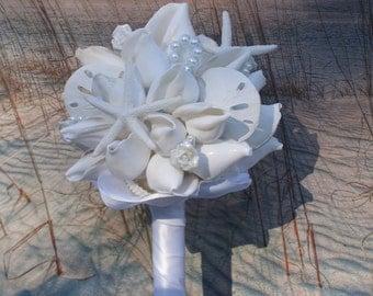 White Starfish and Seashell Bouquet
