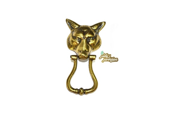 Brass Fox Door Knocker Brass Wolf Door Knocker Fox Head Wolf