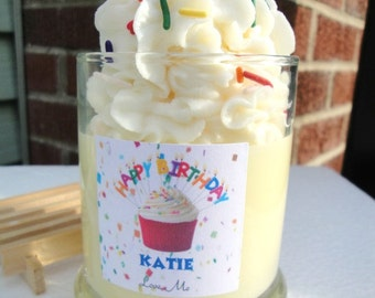 Personalized Custom Scented Soy Candle Home Decor Birthday Cake Candle Soy Container candles Jar Candle Natural Candles