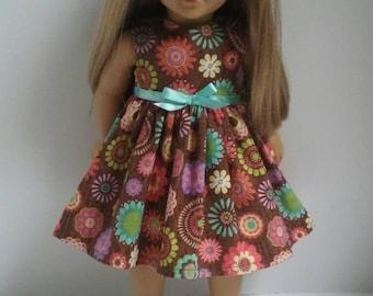 18 Inch Doll-American Girl Dress: Flower Medallion