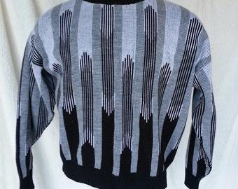 Mens Geometric Design Sears Sweater, size L, Pull Over L, 1970s,  Mens Winter Sweaters, Mens Sweaters L, Mens Size L, Mens Acrylic Sweaters
