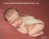 Newborn Angel Wings READY TO SHIP Sweet Dainty Angel Wings And Headband Set Newborn Photo Prop