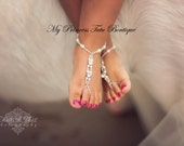 Barefoot Sandals For Girls, Flower Girl Barefoot Sandals, Little Girl Barefoot Sandals, Beach Barefoot Sandals, Todder Barefoot Sandals