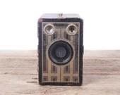 Vintage Brownie Junior Six-16 Camera / Old Kodak Camera / Antique Kodak Box Camera / Retro Camera / Black Gold Camera / Display Prop Decor