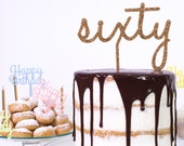Personalised Age Number Word Cake Topper - Birthday Celebration Party