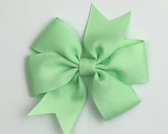 Boutique Hair Bows- Mint - Pinwheel 3 inch Hair Bow, Boutique Bow, Babies Toddler Girls Women