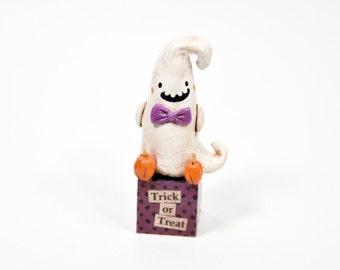 Trick or Treat Ghost Figurine