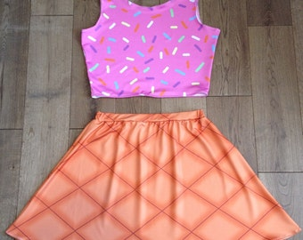Ice Cream Cone Skater Skirt