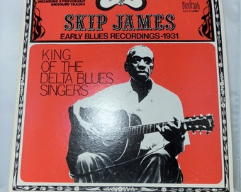 Vintage Vinyl LP Record Skip James Early Blue 1931 Biograph BLP 12029 Collectible Nice Copy Album Delta Blues Recordings DanPickedMinerals