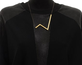 V necklace - Bib necklace - Statement necklace - Gold necklace - Necklaces for women - NB 007