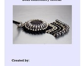 Tutorial ,Pattern,  Bead embroidery ,Beading pattern , Instructions only , Lava gemstone necklace
