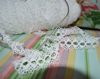 Cluny Lace for Weaving on Frames, or Add Satin Ribbons, 1.25 Inches wide