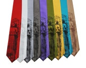 Cleveland's Guardian of Transportation Neckties, on Red, White, Silver, Dark Gray, Purple, Olive Green, Gold, Turquoise, or Bronze