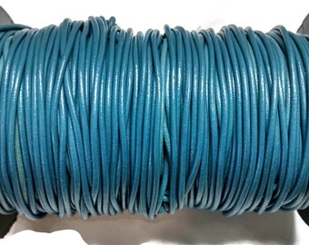 2mm Greek Leather - Sky Blue - Round Leather Cord