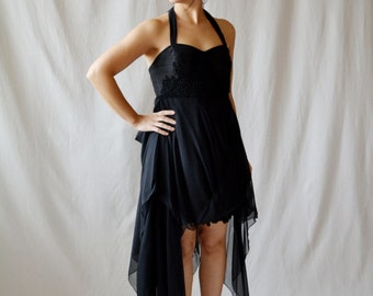Black dress, Boho dress, Flamenco dress, New Years Eve, Prom dress, Party dress, LBD, Short dress, Evening dress, Cocktail dress