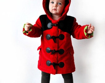 Kids ladybird coat red black childrens jacket toddler clothing insect animal bug themed cute ladybug babies clothes