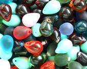 10x14mm Teardrop beads MIX Second CHOICE, czech glass drops, Briolettes - 12Pc - 0670
