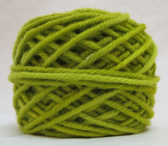 CELERY, 100% Wool, 2 ozs. 43 yards, 4-Ply, Bulky weight or 3-ply Worsted weight yarn, already wound into cakes, ready to use. Made to order