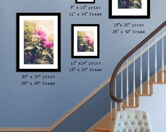Botanical Flower Decor, Floral Wall Decor, Shabby Chic Decor, 8x10 8x12 10x15 11x14 12x18 16x20 16x24 20x30 For Her Office Home Photo Decor