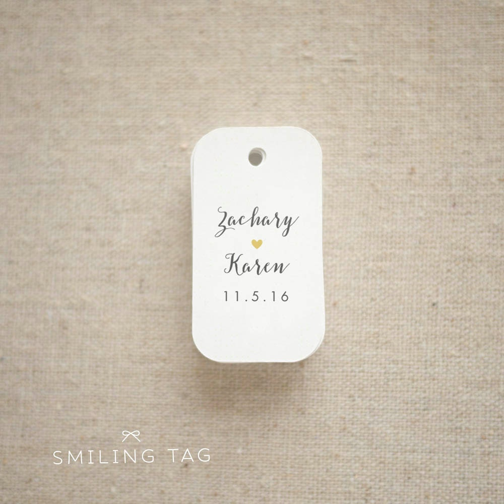 Romantic Script Personalised Gift Tags Wedding Favor