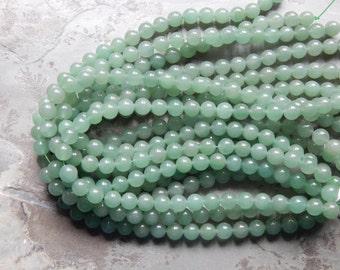 10mm Green Aventurine Polished Round Gemstone Beads, Half Strand (INDOC945)