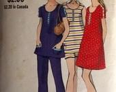 "Vintage 1960s Vogue Misses' Maternity Dress Top and Pants 7843 Size 12 (34"" Bust)"