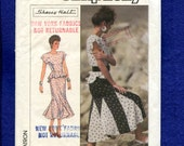 Vintage 1980's Simplicity 8555 Sherry Holt Flared Skirt with Godets & Top with Peplum Size 12