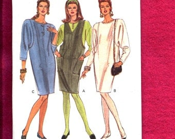 Vogue 8107 Tapered Tee Shirt Dress or Jumper Sizes 20..22..24 UNCUT