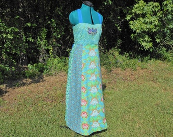 Lotus Blossom Hippie Corset Back Festival Dress - Large #517
