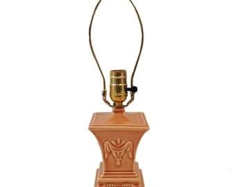 Vintage Urn Lamp, Peach Glaze