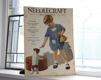 1928 Needlecraft Magazine March Issue Vintage 1920s Sewing