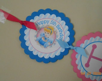 Cinderella Banner-Princess Banner-Cinderella Birthday Banner-Cinderella Birthday-Cinderella Decoration-Cinderella Birthday Party Decoration