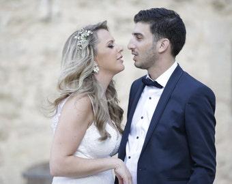 Bridal Chandelier Earrings, bride earrings, Wedding Statement Dangle Earrings, Pearl and Crystal Bridal Earrings, Vintage Wedding Jewelry