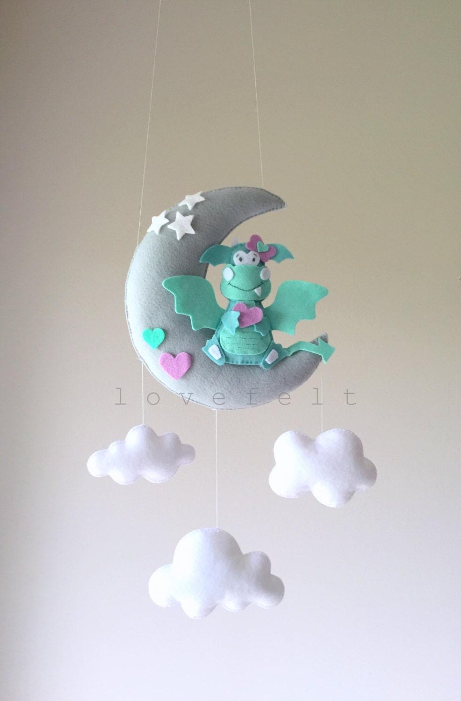 baby mobile dragon mobile baby mobile dragon fairytale. Black Bedroom Furniture Sets. Home Design Ideas
