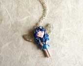 Goodnight Fairy. Pixie necklace. One of a kind.