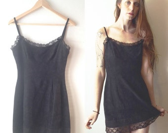 90s Moschino lacey little black dress Made in Italy