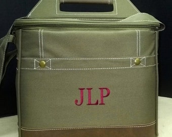 Set of 5 Personalized Cooler, Groomsmen Gifts, Insulated Cooler, Monogrammed Wedding Gift, Bridal Party Gifts