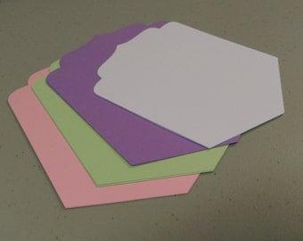 Bracket Cards, Layered Banner Cutouts, DIY Banners, Large Die Cut Bracket Cards, Scrapbooking Die Cuts
