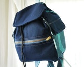 Small Backpack, Designer Backpack, Wool Backpack, Small Backpack, Purse Backpack with Camo Trim Bag Again