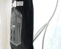 Dr Who Upcycled Tee Shirt Bag, Dr Who T Shirt Market Bag, Book Bag, Shopping Bag, Tote Bag Again, Upcycled Recycled Repurposed