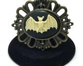 Bat Brooch, Steampunk Brooch, Rockabilly Brooch, Goth Brooch, Lolita Brooch, Cameo Brooch