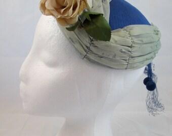 Shabby Blue Vintage Hat