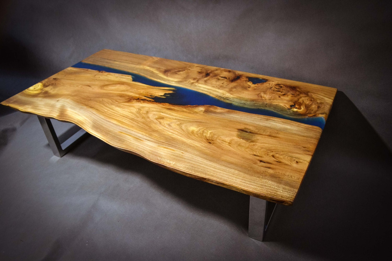 Poco Resina Live Edge Elm Wood Slab By FrancesBradleyDesign
