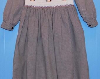 Sz. 6, Strasburg Hand Smocked Dress