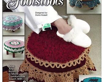 Fancy Footstools Crochet Pattern Book Annies Attic 874110
