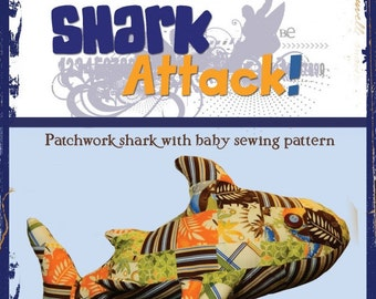 Shark Attack Pillow by Hot Scott Patterns